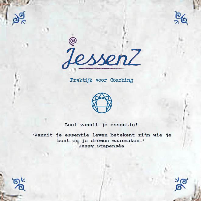 Tegel met spreuk van Jessy Stapensea